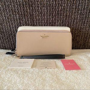 NWT Kate Spade Payton Colorblock Carryall Wallet